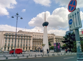 Revolution Square, where the revolution of 1989 begun.
