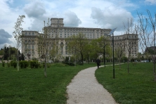 The Parliament Palace from Izvor park. The entrance is from the other side of the park on Calea 13 Septembrie.